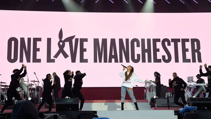 "Grande performed with Pharrell Williams, Mac Miller and Miley Cyrus and joined the Black Eyed Peas for ""Where Is the Love?""  Ariana Grande's One Love Manchester concert, a benefit for the victims and families of the May 22 terror attack after the singer's show at..."