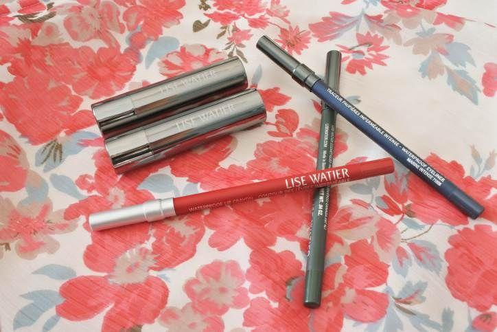 eyeliner lise watier forêt, marine, rouge lip crayon, rouge fondant suprême sandra oprah