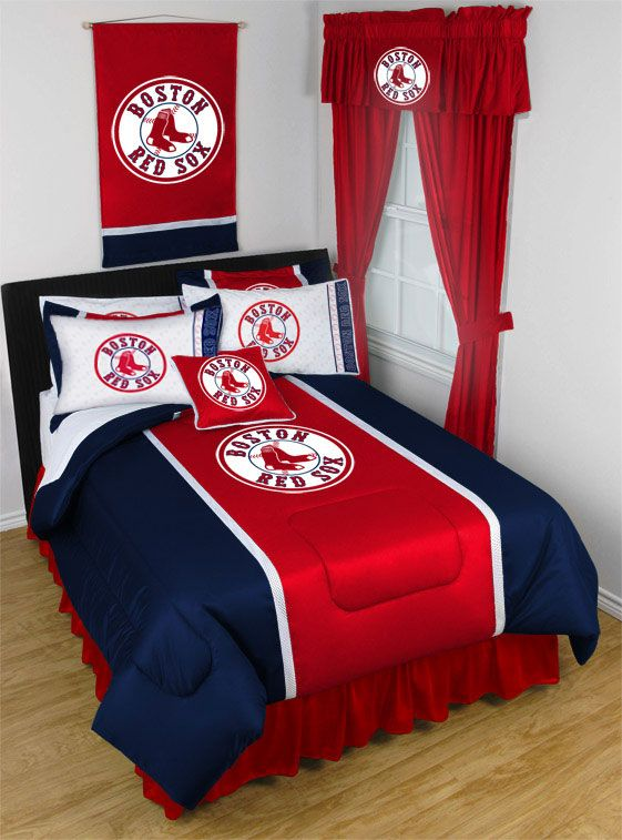 Image of 2 Pack MLB Red Sox Pillowcases - Boston Baseball Bed Accessories