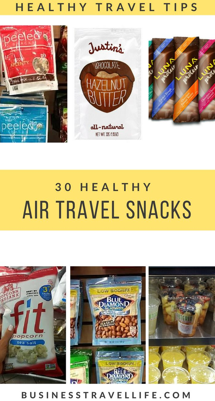 30 Healthy Travel Snacks You Can Fly With   https://businesstravellife.com/healthy-travel-snacks-for-flying/