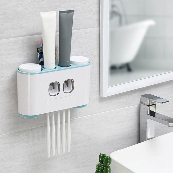 Details about  /Bathroom Automatic Toothpaste Dispenser Squeezer Toothbrush