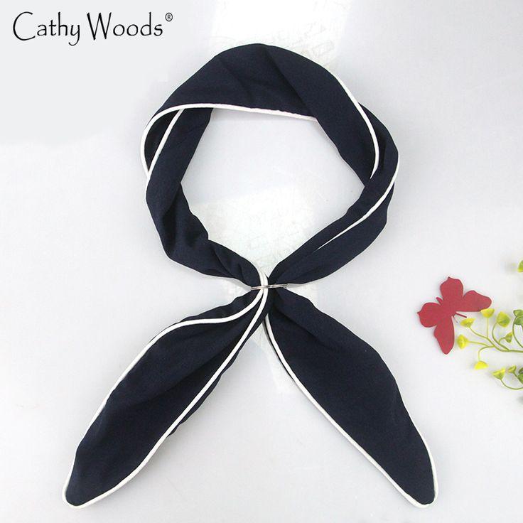 2017 Fashion Small Women Scarf  Multifunction Small Scarf Collar Scarve Ladies Neckerchief Scarf Female Hoofdband Wraps Sjaals