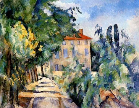 Paul Cézanne, House with Red Roof, 1887-90