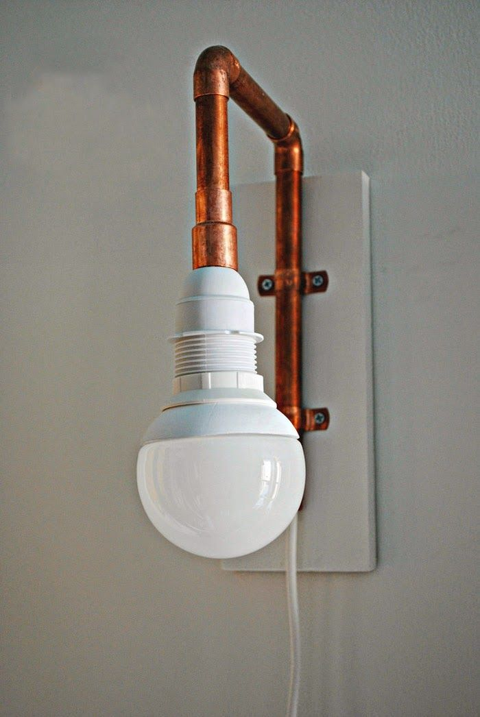84 best images about diy hazlo t mismo con cobre on for Diy pipe lamp