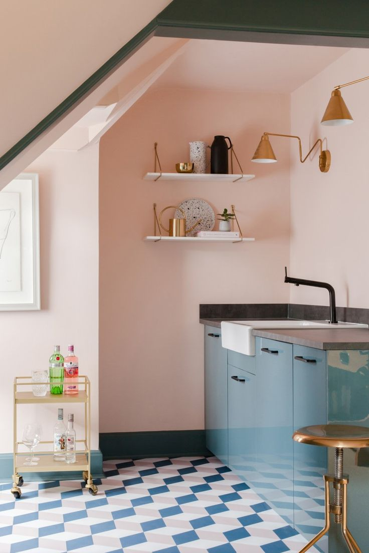 7 pink kitchens that will convince you to stray from white cabinets kitchen wall colors on kitchen decor pink id=63738