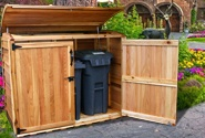 Wooden Trash Can Enclosure Plans Woodworking Projects