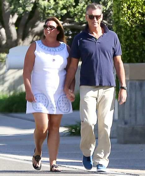 Pierce Brosnan, Wife Keely Hold Hands for Walk After Fire Damages Home - Us Weekly