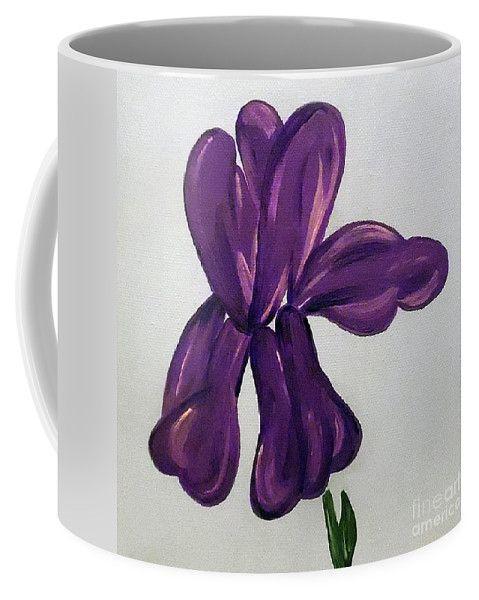 Indigo Iris Coffee Mug for Sale by Jilian Cramb #giftsforher #purple #flowerlovers #coffeelover #giftideas