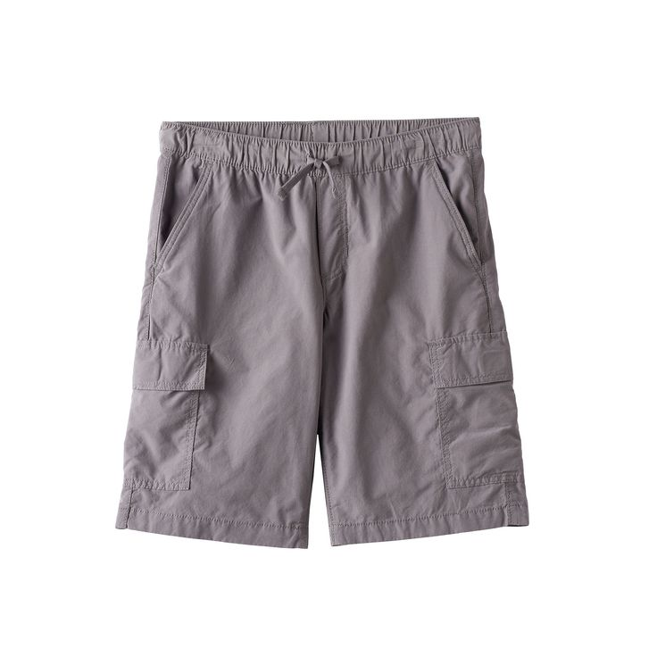 Boys 8-20 Urban Pipeline® Pull-On Cargo Shorts, Boy's, Size: Medium, Dark Grey
