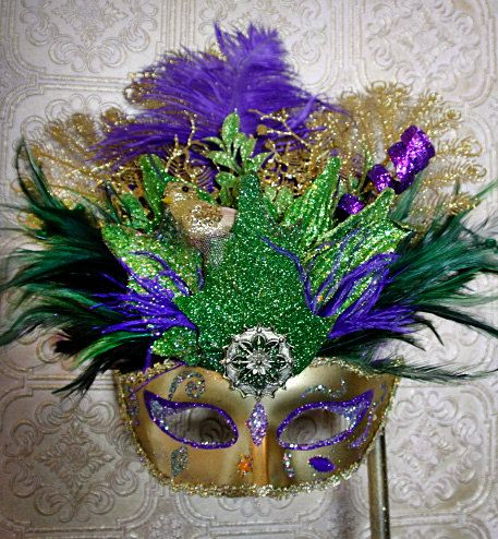 handmade Mardi Gras Mask............