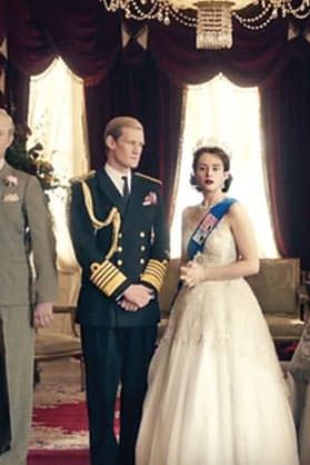 """THE CROWN""  If you're going through Downton Abbey withdrawal, get excited for Netflix's most expensive project to date, which follows Queen Elizabeth II's time on the throne.  Available to stream on Netflix, beginning 11/4"