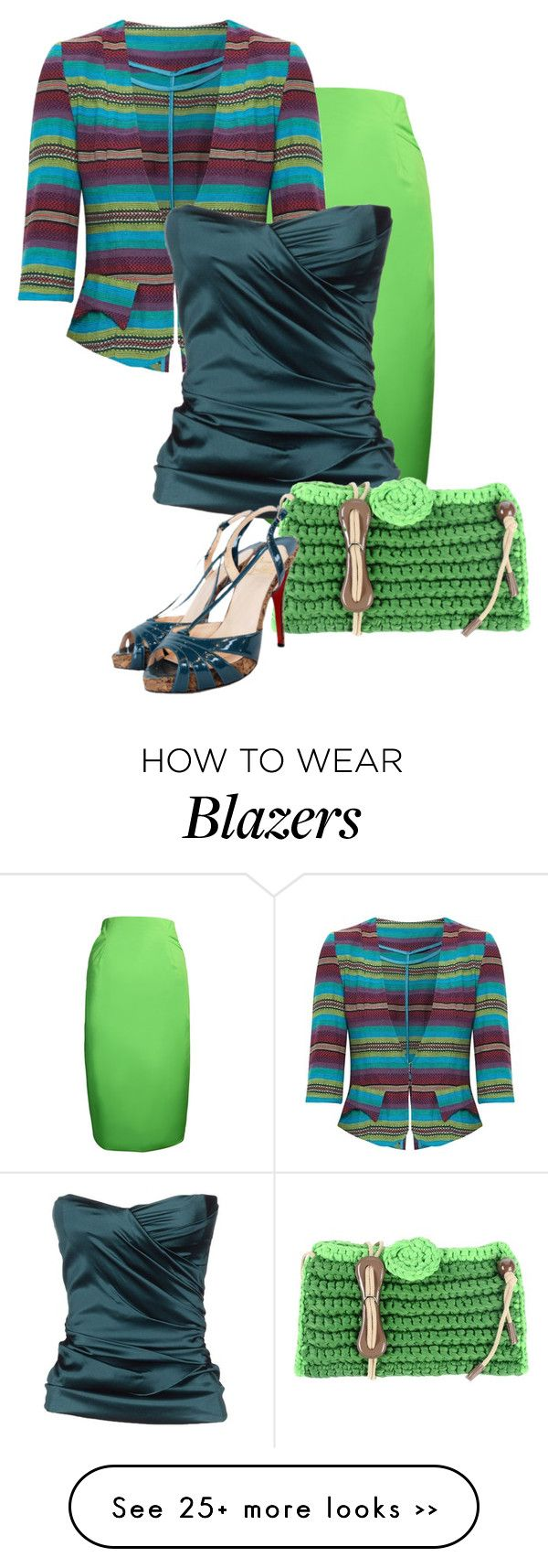 """teal & lime"" by rvazquez on Polyvore"
