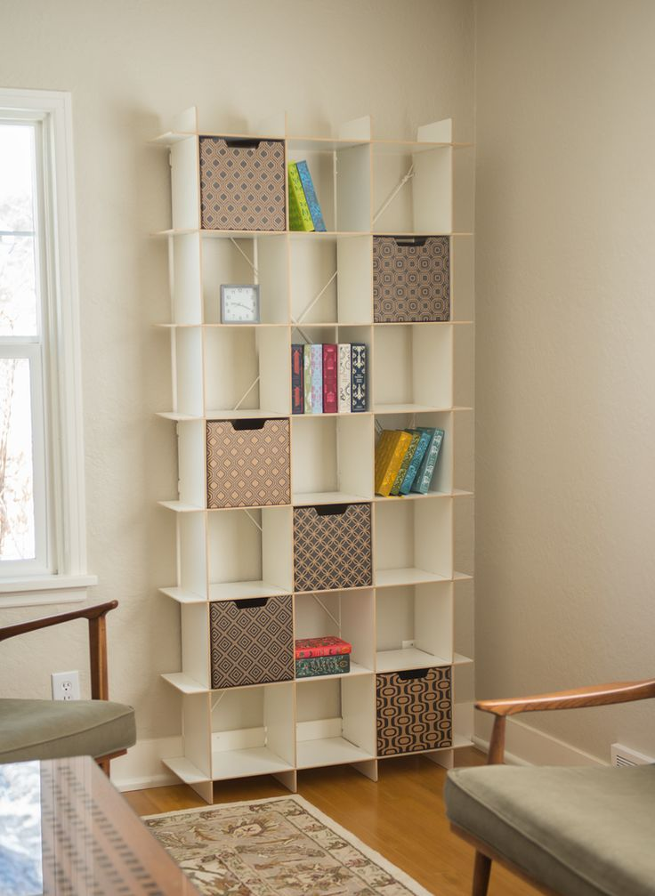 modern 21 cube white tall bookcase tall white bookcase by sprout with bins and