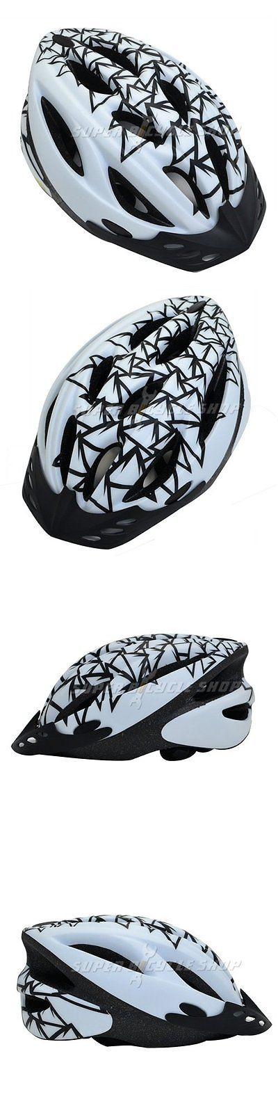 Helmet Accessories 177865: Fuji P9124 Bike Bicycle Durable Helmet 14 Vents, White X Black BUY IT NOW ONLY: $34.5