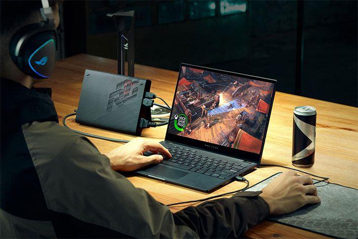 Asus Rog Flow X3 Laptop Blitzes Benchmarks With Amd Ryzen 9 5980hs Zen 3 Cpu In 2021 Asus Gaming Laptops Asus Rog
