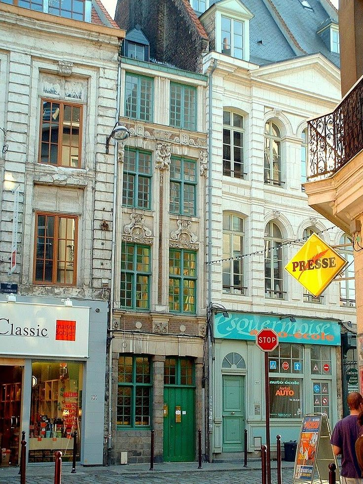 France, la plus petite façade, rue Esquermoise dans le vieux Lille