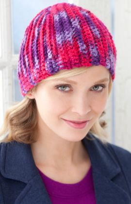 Best Free Crochet » Free Martha Beanie Crochet Pattern from RedHeart.com #287  (Don't laugh if you check the url on this pattern! Think someone goofed. LOL) but for now, it does lead to this hat.