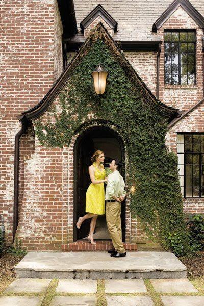 Tudor brick with ivy