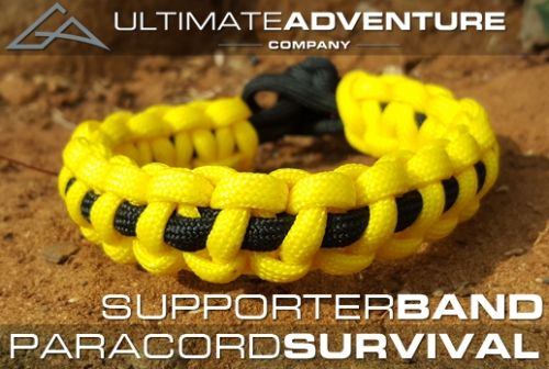 Ultimate Adventure Company Paracord Survival Bracelet Supporter Band