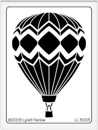 Dreamweaver Large Brass Stencil - Hot Air Balloon