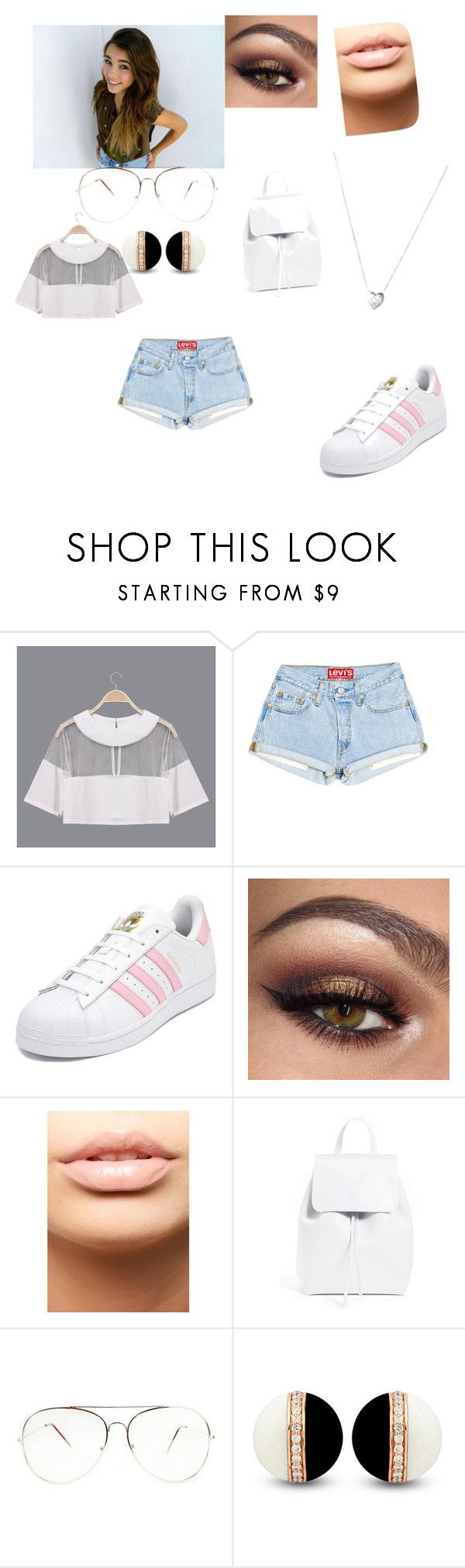 """""""MADDISON BEER INSPIRED LOOK"""" by shawnmendesfangirl ❤ liked on Polyvore featuring adidas, MDMflow, Mansur Gavriel and Links of London"""