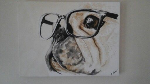 French bulldog coffee art with black ink,  prints available ,..  cathcurrie.etsy.com