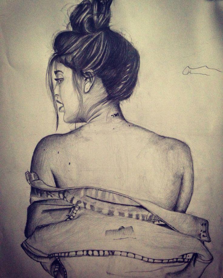 #sketch #draw #drawing #art #tattoo #girl #nude #details #okomur