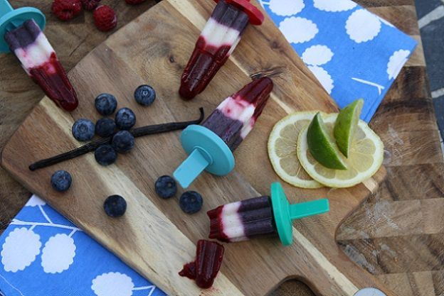 My real fruit and kefir rocket pops! Enjoy a fresh, nutritious, delicious treat this summer!
