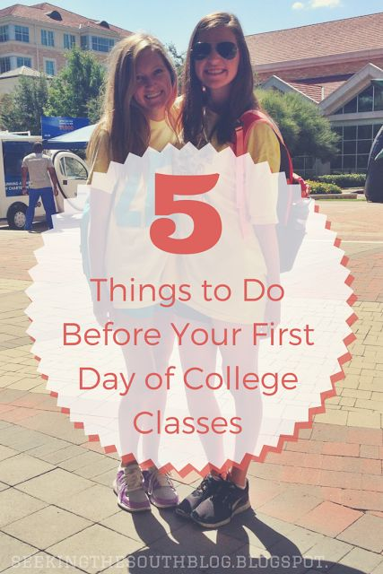 5 Things to Do Before Your First Day of College Classes