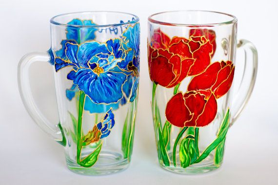 Personalized Hostess Gift Flowers Mugs Coffee Mug Set by Vitraaze