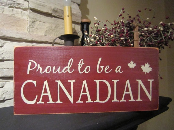 Proud To Be A Canadian Primitive Rustic by PrimitiveExpressions, $15.00