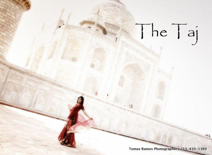 Taj Mahal In India. This beautiful bride had a wonderful time during her photo session