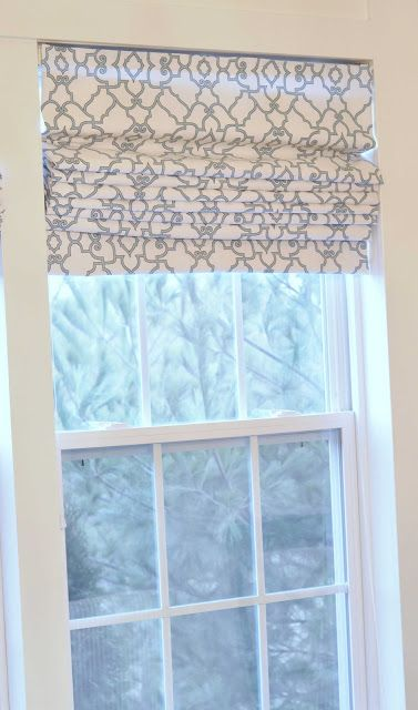 Awesome idea, I am trying this!  custom made roman shades are way too expensive.. House of Chic and Penoche: Roman Shades from Big Blinds