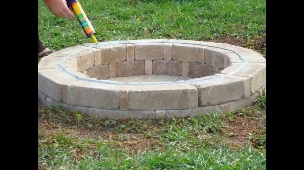 Fire Pit Bricks Home Depot Best Paint For Wood Furniture Check More At Http Testmonsterblog Com Fire Pit Brick Fire Pit How To Build A Fire Pit Home Depot
