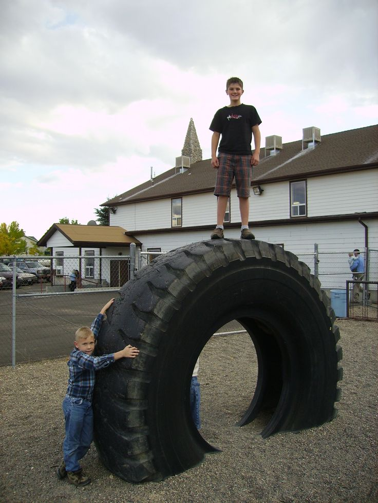 Tire art on the playground the nwb fellowship gathering for Old tire art