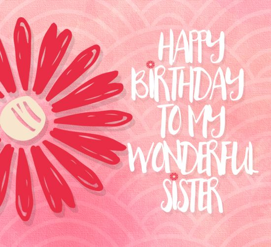 Whatsapp a sweet #birthday wish to you sister with this #ecard. #Happybirthday #free #cards #greetings #wishes.