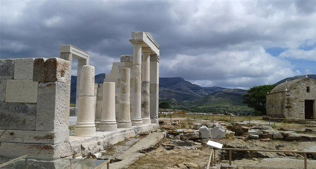 The Temple of Demeter at Gyroula, Sagri.