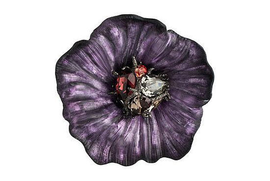 alexis bittar brooches | Alexis Bittar neo deco gunmetal clustered gem flower pin, $395 at ...
