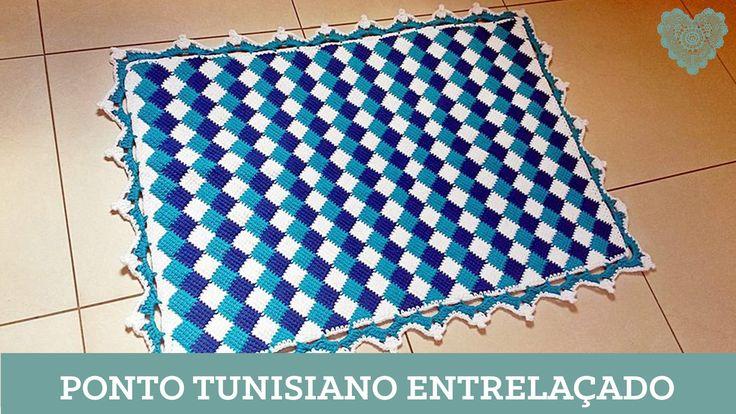 Criações em Crochê: Ponto Tunisiano Entrelaçado/Luciana Ponzo