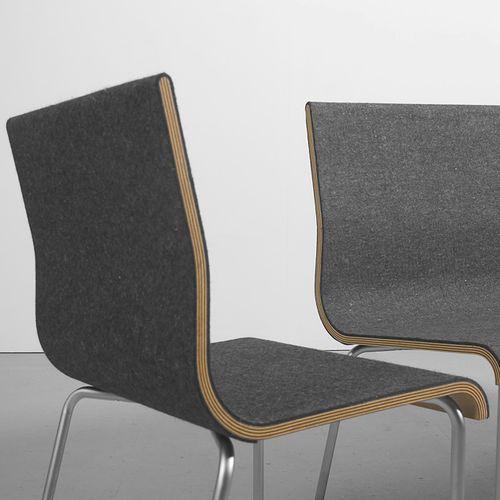 Contemporary Chair / Felt / Plywood SLOW Sanktjohanser