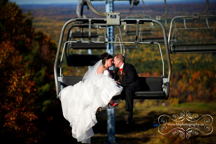 """Great photograph of a fall wedding at  Calabogie Peaks by """"BH Photography"""" www.bhphotography.ca"""