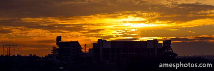 PENN STATE – CAMPUS – A Beaver Stadium sunset