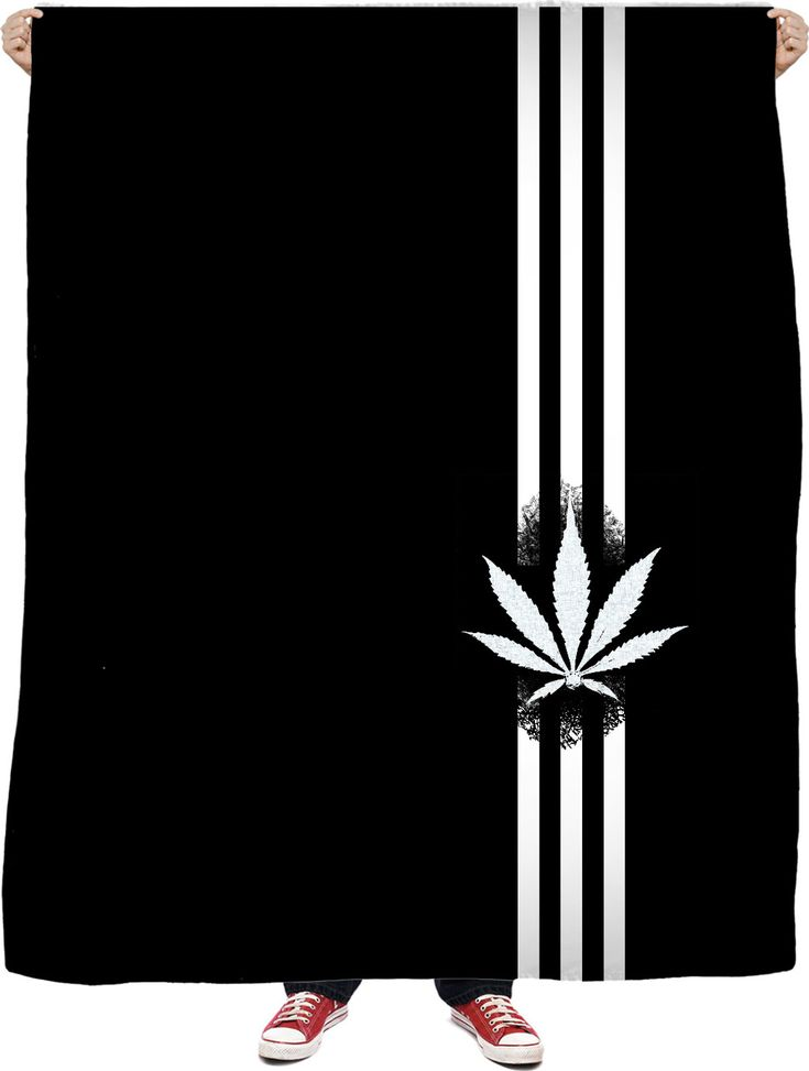 420 Black fleece blanket, ganja leaf and three stripes, weed, marihujana themed, stoners pot decor - for more art and design be sure to visit www.casemiroarts.com, item printed by RageOn at www.rageon.com/a/users/casemiroarts - also available at www.casemiroarts.com - This product is hand made and made on-demand. Expect delivery (aproximate time frames) to US in 11-23 business days (international 14-33 business days). #bedroom #home #decor #blankets #fleece