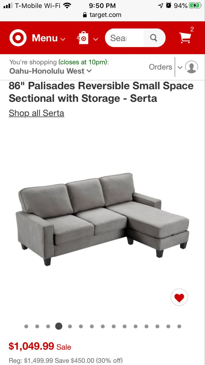 Serta Palisades Sectional With Storage Small Space Sectional Sectional Sectional Couch