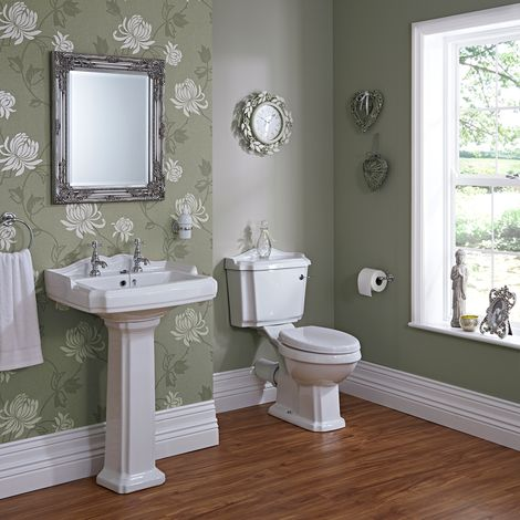 Milano Windsor Traditional Toilet & Basin Set. Add class and elegance to your bathroom or en-suite with the Milano Windsor basin and toilet set. A great option for those who love traditional style, the basin and toilet set is sure to create a look that will stand the test of time. Click to shop for yours.