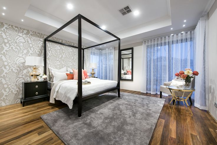 The Atlantis. This master suite is located at the front of the home for privacy and seclusion, has a large walk-in dressing room and an ensuite with a double shower and twin vanity. You'll fall in love with this bedroom.