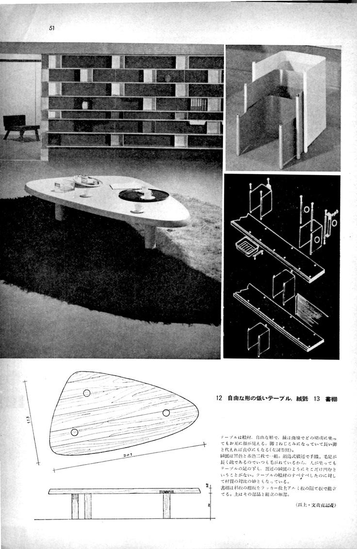 """Perriand's Furniture"" 'Kogei News' Magazine 1955, P51, 8/8"