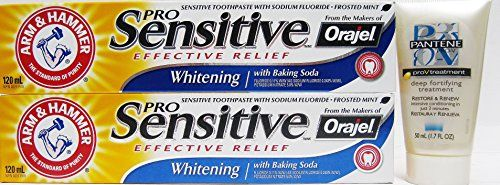 ARM & HAMMERTM Pro #SensitiveTM #Freshening toothpaste, from the makers of OrajelTM, provides effective relief in a low-abrasion formula that is gentler on enamel...