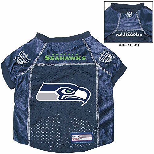 Seattle Seahawks Premium NFL Pet Dog Alternate Jersey w Name Tag Large -- Click image to review more details. (Note:Amazon affiliate link)