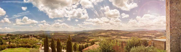 Panorama da Casole d'Elsa - panoramic pic from Casole d'Elsa